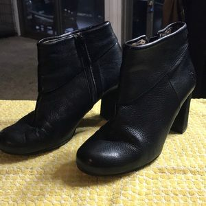 Fly London booties with cool chunky heel, size 39